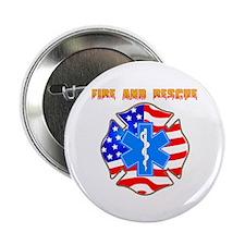 "Fire and Rescue Emblem 2.25"" Button"