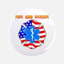 """Fire and Rescue Emblem 3.5"""" Button (100 pack)"""