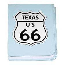 U.S. ROUTE 66 - TX baby blanket