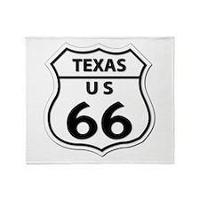 U.S. ROUTE 66 - TX Throw Blanket