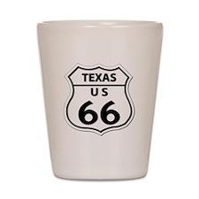 U.S. ROUTE 66 - TX Shot Glass