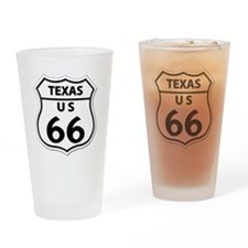 U.S. ROUTE 66 - TX Drinking Glass