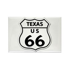 U.S. ROUTE 66 - TX Rectangle Magnet