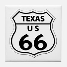 U.S. ROUTE 66 - TX Tile Coaster