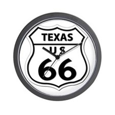 U.S. ROUTE 66 - TX Wall Clock