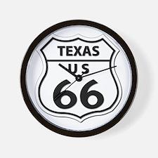 U.S. ROUTE 66 - TX Wall Clock