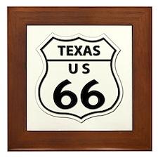 U.S. ROUTE 66 - TX Framed Tile