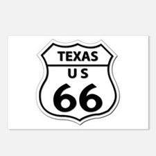 U.S. ROUTE 66 - TX Postcards (Package of 8)