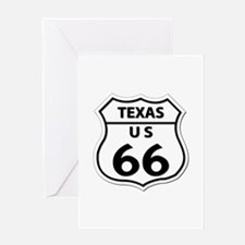 U.S. ROUTE 66 - TX Greeting Card