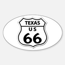 U.S. ROUTE 66 - TX Sticker (Oval)