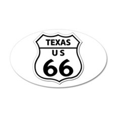 U.S. ROUTE 66 - TX Wall Decal