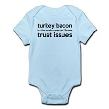 Turkey Bacon and Trust Issues Humor Onesie