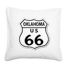 U.S. ROUTE 66 - OK Square Canvas Pillow