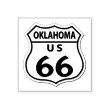 "U.S. ROUTE 66 - OK Square Sticker 3"" x 3"""