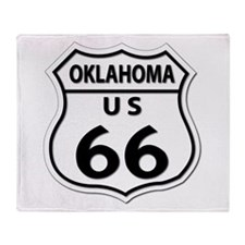 U.S. ROUTE 66 - OK Throw Blanket