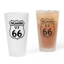 U.S. ROUTE 66 - OK Drinking Glass