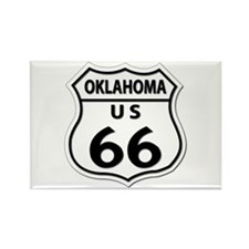 U.S. ROUTE 66 - OK Rectangle Magnet (10 pack)