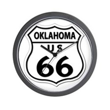 U.S. ROUTE 66 - OK Wall Clock