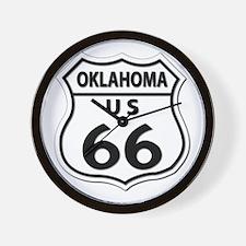 U.S. ROUTE 66 - OK Wall Clock