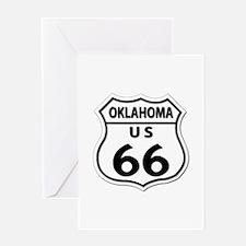 U.S. ROUTE 66 - OK Greeting Card