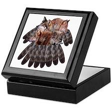 4 Wolves Dreamcatcher Keepsake Box