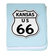 U.S. ROUTE 66 - KS baby blanket