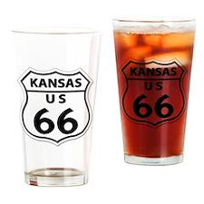 U.S. ROUTE 66 - KS Drinking Glass