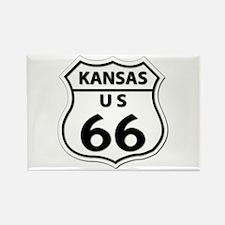 U.S. ROUTE 66 - KS Rectangle Magnet