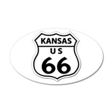 U.S. ROUTE 66 - KS Wall Decal