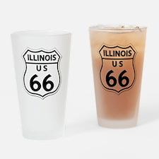 U.S. ROUTE 66 - IL Drinking Glass