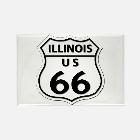 U.S. ROUTE 66 - IL Rectangle Magnet