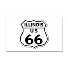 U.S. ROUTE 66 - IL Car Magnet 20 x 12