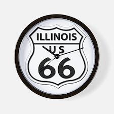 U.S. ROUTE 66 - IL Wall Clock