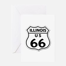 U.S. ROUTE 66 - IL Greeting Card