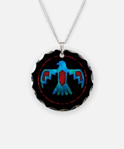 Red and Blue Thunderbird Necklace