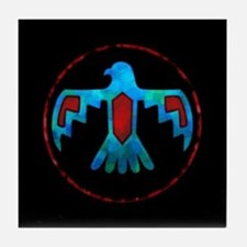 Red and Blue Thunderbird Tile Coaster