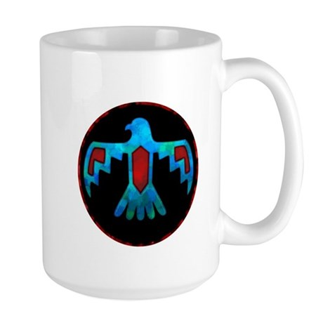 Red and Blue Thunderbird Large Mug