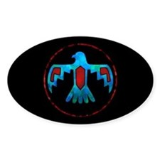 Red and Blue Thunderbird Decal