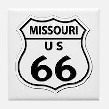 U.S. ROUTE 66 - MO Tile Coaster