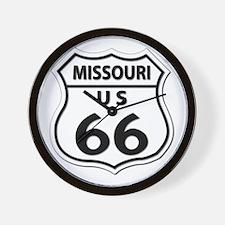 U.S. ROUTE 66 - MO Wall Clock