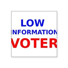 Low Information Voter Sticker