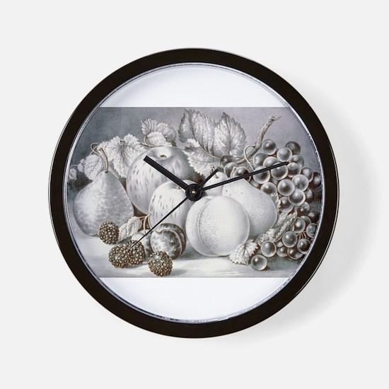 Fruit piece - 1870 Wall Clock