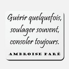 Paré (French) Mousepad