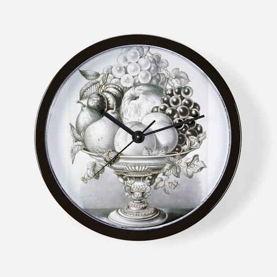 Fruit vase - 1870 Wall Clock