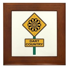 Dart Country Road Sign Framed Tile