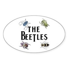The Beetles Oval Stickers