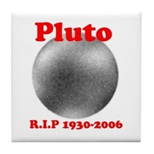 Pluto - Revolve in Peace Tile Coaster