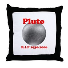 Pluto - Revolve in Peace Throw Pillow