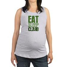 EAT SLEEP CLIMB Maternity Tank Top