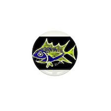 Retro Tuna 1 Art Mini Button